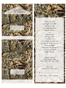 "These Realtree Camo invites are specifically created so you do not need an envelope . They are folded and sealed and mailed just as they are. The invitation features a perforated response card printed with your return address on one side and your response wording on the other. The price of the invitations includes your wording and reception information printed inside in the format shown. The wording is printed in black.  All our invitations are printed professionally on uncoated cover stock. Realtree trademarked and licensed.  Final printed packages include: - 15 1/2"" x 6"" (with perforated RSVP) - Folded Size: 6"" x 4 3/8"" - Clear sticker seals    READY TO ORDER - - - - - - - - - - - - - - - - - - - - - 1. SUBMIT ORDER online (below)  2. SUBMIT WORDING Please Email wording and details to: papersbest@gmail.com Importation to include: Your wedding verse copy, Respond Date and Return Address.  3. REVIEW PROOF 2-3 business days from placing order Once I receive your wedding details, I will email you a digital proof for you to review within 2 business days. Approving the wording is YOUR Responsibility. The price of the invitation includes one digital proof. If you request another proof, we will charge you an additional $10.00 for a second proof.  4. APPROVAL The invitation is approved by you. Please send us your approval by email. Approving the wording is YOUR Responsibility.  5. PRINTING Designs are sent to print when final approval is received and balance is paid in full. Turnaround time for ALL orders is exactly 2 weeks (10 business days) from final payment date until shipment date.  6. SHIPPING Your package will take 2-3 business days to arrive via USPS Priority Mail. Tracking information will by supplied once shipment is sent. If you are an international buyer, your package will take 6-10 business days to arrive via Priority Mail."