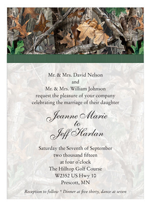 Camo Wedding Invitations Realtree Camo is the Perfect Camo for your