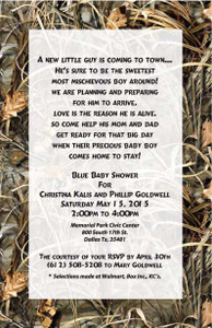Realtree Camo Max4 Wedding or Birthday Invitation