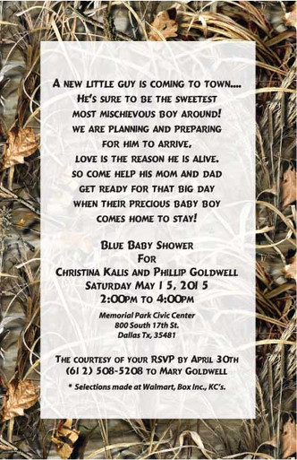 Realtree Camo Max4 Wedding Invitation