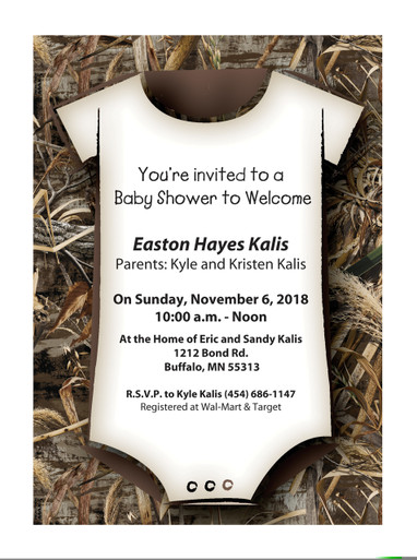 New realtree max 5 camouflage baby shower invitations papersbest realtree max 5 camouflage baby shower invitations image 1 filmwisefo