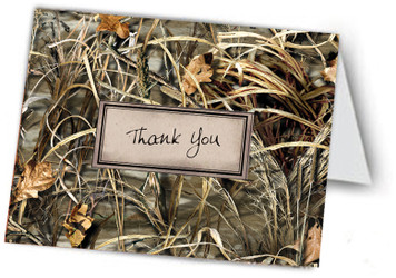 Realtree© Max-4© Camo,    Hand Embellished,  Thank You Note Card