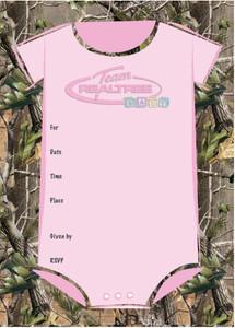 Team Realtree Baby Shower Invitations