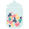 Candy Jar of Wrapped Candy