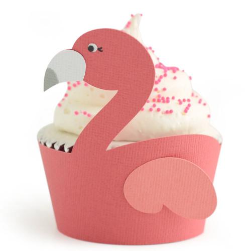 Tropical Cupcake Wrapper: Flamingo