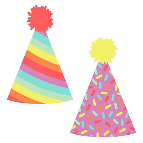 Rainbow Party Hats