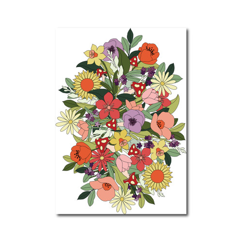 flower poster on white amy robison