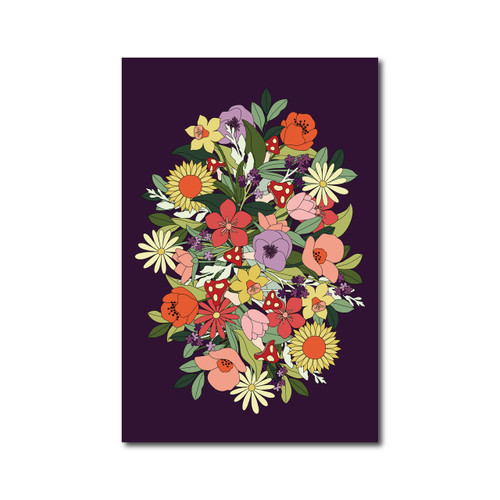 Flower Poster on Purple