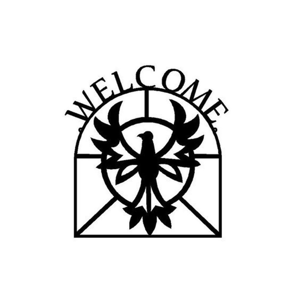 Metal Art Firebird Metal Welcome Sign (K6)