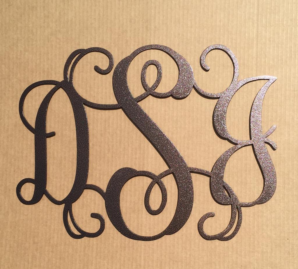 Vine Monogram with Three Initials