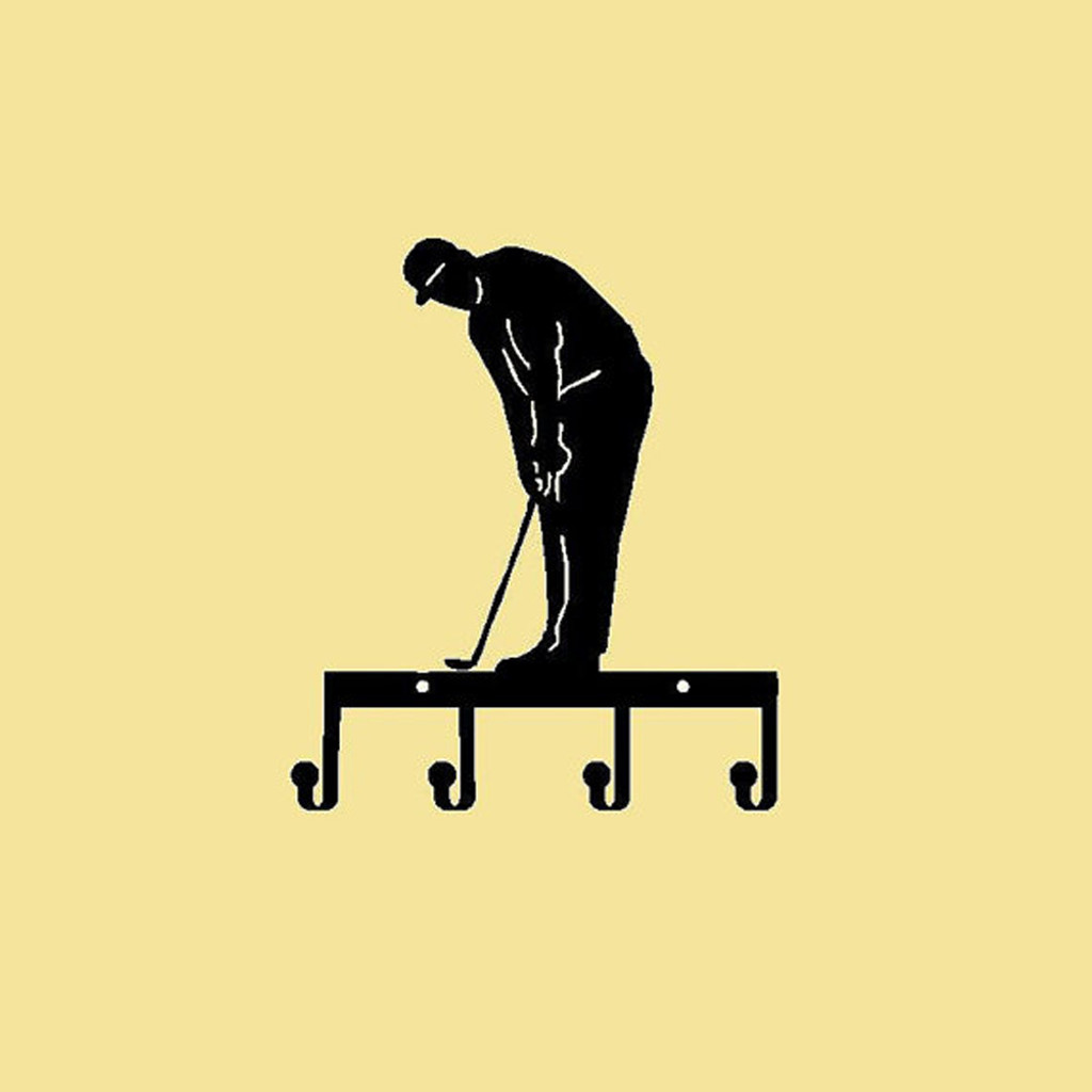 Golfer Key Holder Metal (I22)