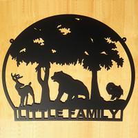 Buck Bear and Turkey Metal Wall Art (R7)