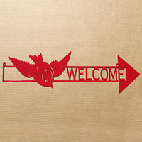 Arrow with Flying Bird Direction Sign (O20)