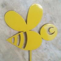 Bumble Bee Metal Garden Stake (A1)