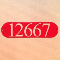 Oval Address Plaque Metal Wall Art (X20)