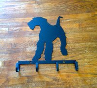 Airedale Dog Key Holder Metal (Y8)