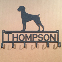 German shorthair Key Holder with Personalized Text Field (I29)