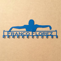 Swimmer Medal Rack with Personalized Text Field