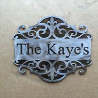 address sign,established sign