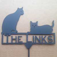 Cats Stake with Custom Text (A22)