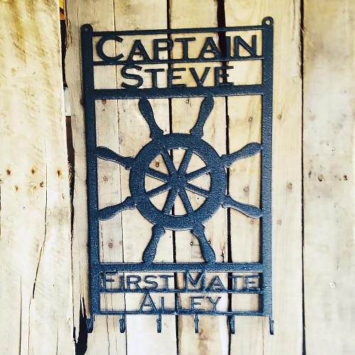 Captains Wheel with Custom Text  (E14)