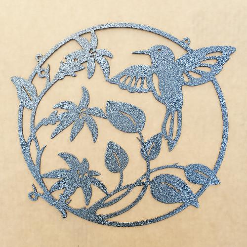 Hummingbird Flower Metal Wall Art  (D18)