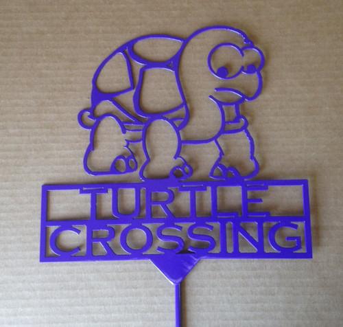 Turtle Crossing Garden Stake (Z8)