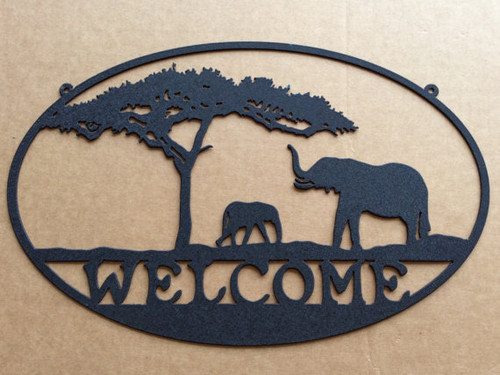 Metal Welcome Sign Elephant (M5)