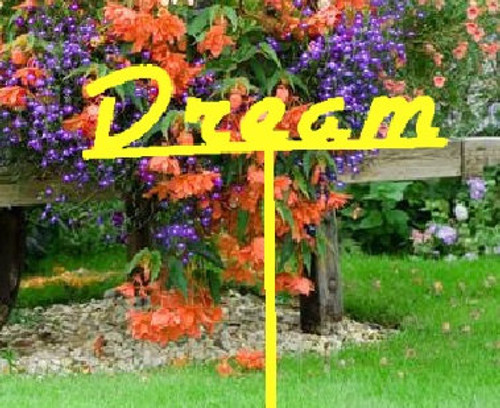 Dream Metal Garden Stake (D8)
