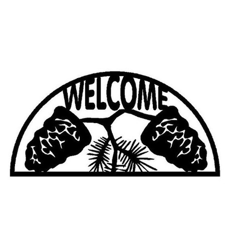 Pine Cone Welcome Sign (W8)