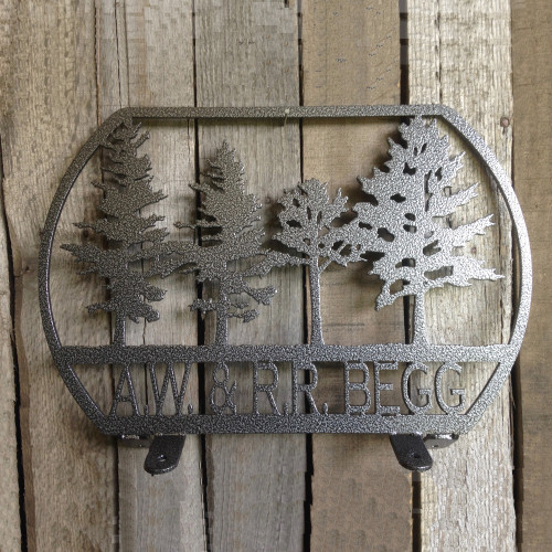 Mail Box Topper with Trees and Personalized Text Box