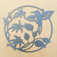 Hummingbird Flower Metal Wall Art  (D18)