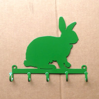 Rabbit Key Holder with 5 Hooks (Y18)