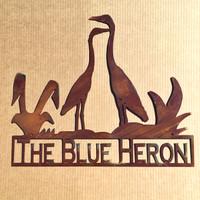 Heron Sign with Custom Text Field (X1)