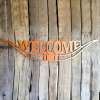 Texas Longhorn Welcome Sign (C12)