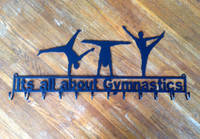 Male Gymnastic Metal Rack Custom Text (F16)