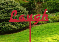Laugh Metal Garden Stake (D2)
