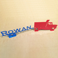 Dump Truck and Trailer with Custom Text on Trailer (A30)