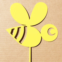 Bumble Bee Metal Garden Stake (A1)