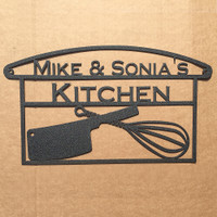 Kitchen utensil sign with custom text (N14)