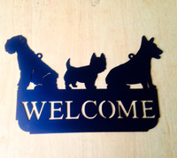 Dog Welcome Sign (C21)