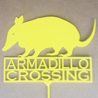 Armadillo Crossing Garden Stake (A11)