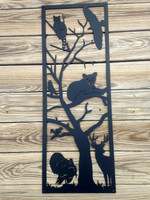 Tree Full Of Animals Metal Wall Art (R6)