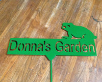 Custom Name Metal Garden Stake (H)