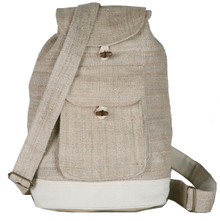 "Hemp Back Pack Assorted Colors 12"" X 14"""