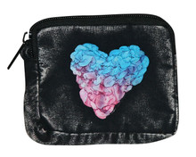 "X4-1  -  Sweetheart Coin Purse Assorted Colors 6"" x 5"""