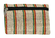 "P9-9  -  Rasta Coin Purse 6"" x 4"""