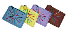 "H9-2  -  Wool Coin Purse Assorted Colors 6"" x 5"""