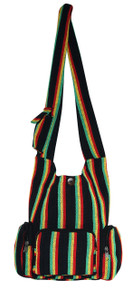 "H9-13  -  Rasta 3 Pocket Hand Bag 16"" x 14"""