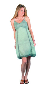 LM-13  -  Sage Cotton Mini Dress